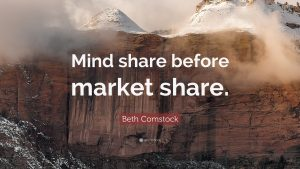 How to create the mindshare before the market share?